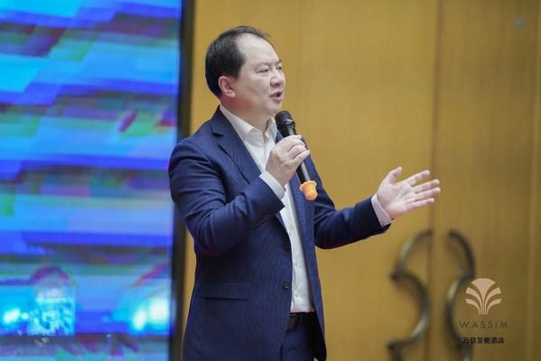 首旅如家酒店集团总经理孙坚发表讲话