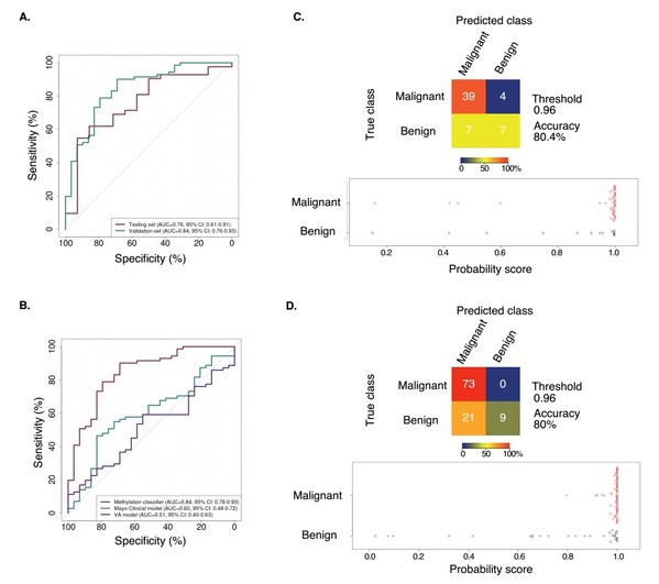 Figure 4. PulmoSeek performance compared to Mayo Clinic/VA model in 6-20mm nodule sizes.