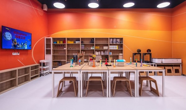 The STEAM classroom offers a series of fun and creative courses in partnership with China-based STEAM course operator Tinkering Shop.