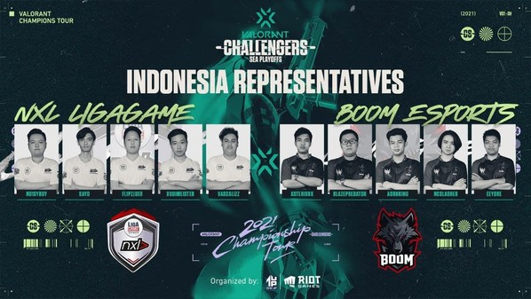 (Left to Right) NXL LIGAGAME and BOOM ESPORTS to Represent Indonesia Once Again in the VCT Stage 2 - Challengers SEA-Playoffs