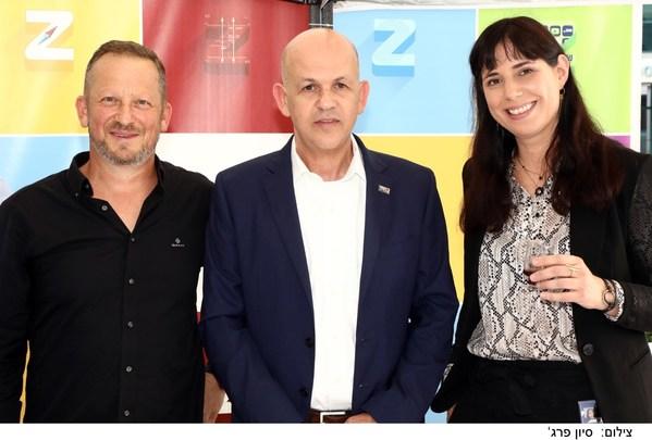 Right to left: Karin Levy, ZIMARK CEO; Eli Glickman, ZIM President & CEO; Alon Raz, Sodyo CEO.