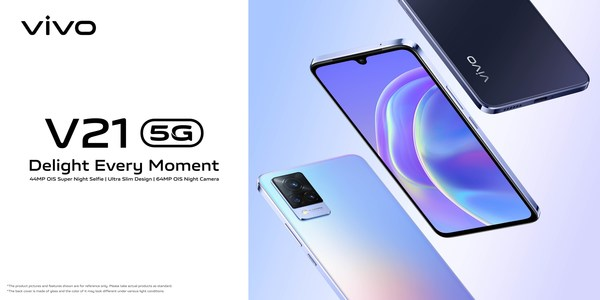 vivo introduces V21 and V21 5G with 44MP OIS front camera - the ultimate selfie smartphones to capture every moment, day and night