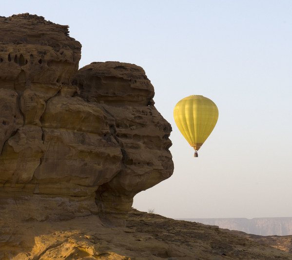 Hot air balloon entertainment activity in AlUla