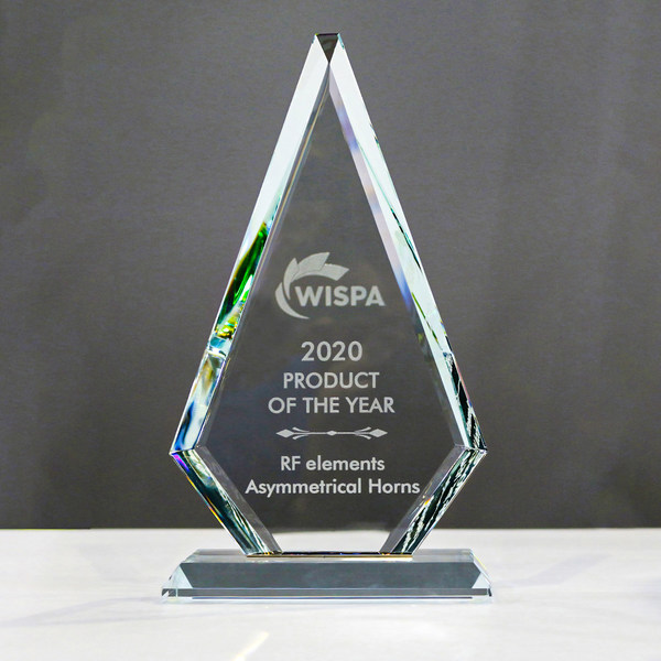 RF elementsの非対称ホーンが2年連続で2020 WISPA Product of the Year Award受賞