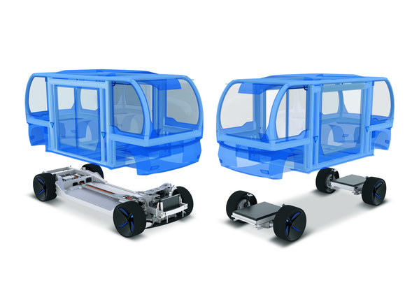 The modular design of BENTELER's people mover platform shortens the time to market for mobility providers.