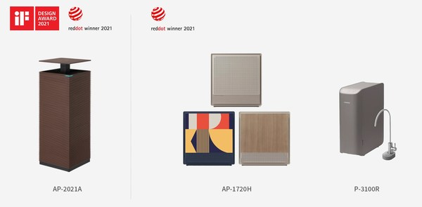 Coway menang Red Dot Award: Product Design 2021 dan iF Design Award 2021.