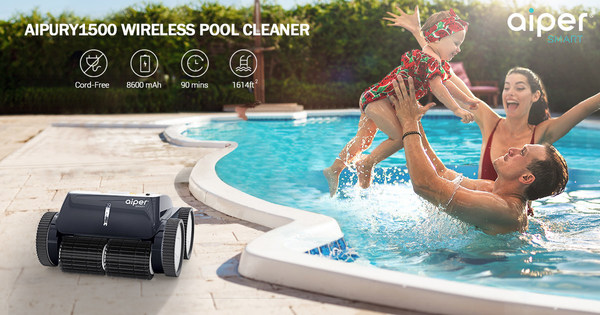 AIPURY1500 of Aiper Smart, The First Automated Pool Cleaner To Apply Three-Axis Technology