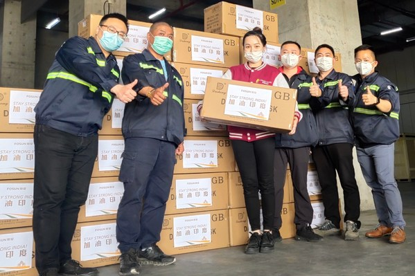Swift support for India - Fosun's additional aid of 100,000 KN95 masks arrived in Mumbai