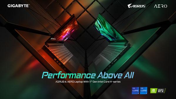 기가바이트, 최신 인텔 11세대 프로세서를 탑재한 오직 고성능만을 위한 새로운 노트북 출시!