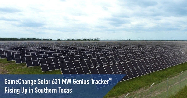 GameChange Solarの631MW Genius Tracker(TM)をテキサス州南部で構築