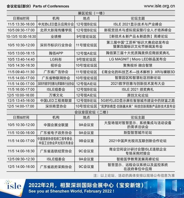 ISLE 2021将于深圳国际会展中心盛大举办 论坛全攻略