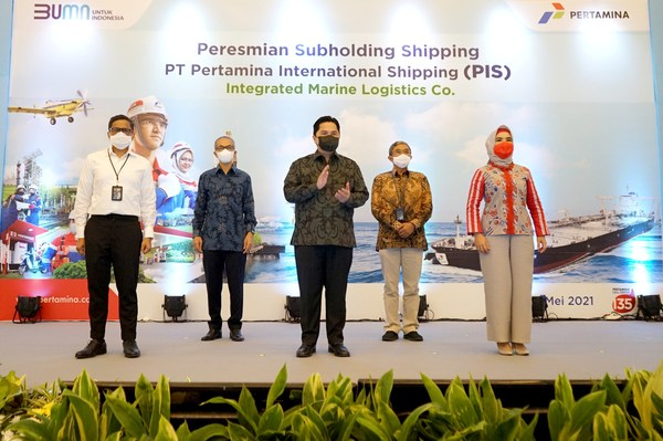 Minister of State-Owned Enterprises, Erick Thohir Announces PT Pertamina International Shipping as the Company's First Subholding Shipping Company