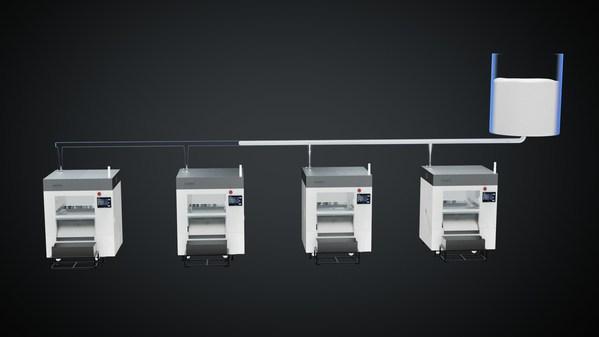 自动补液 自主研发的自动补液方案,可实现集中供料,每台设备自动补液。客户端可以布置集中补液槽,通过管道分送至每天设备,可以在设备端设置自动补液模块以实现自动补液功能。降低人工投入,提高生产效率。