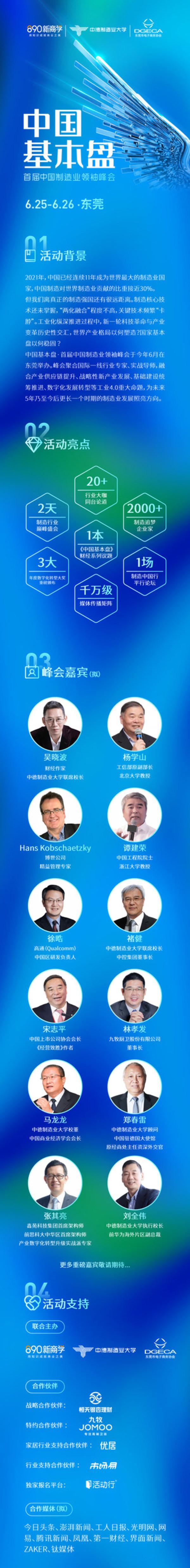 首届中国制造业领袖峰会详情