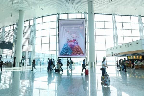 广州白云T2国内出发候机大厅LED 约88平方米