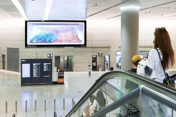 上海虹桥T2国内到达LED 约54平方米