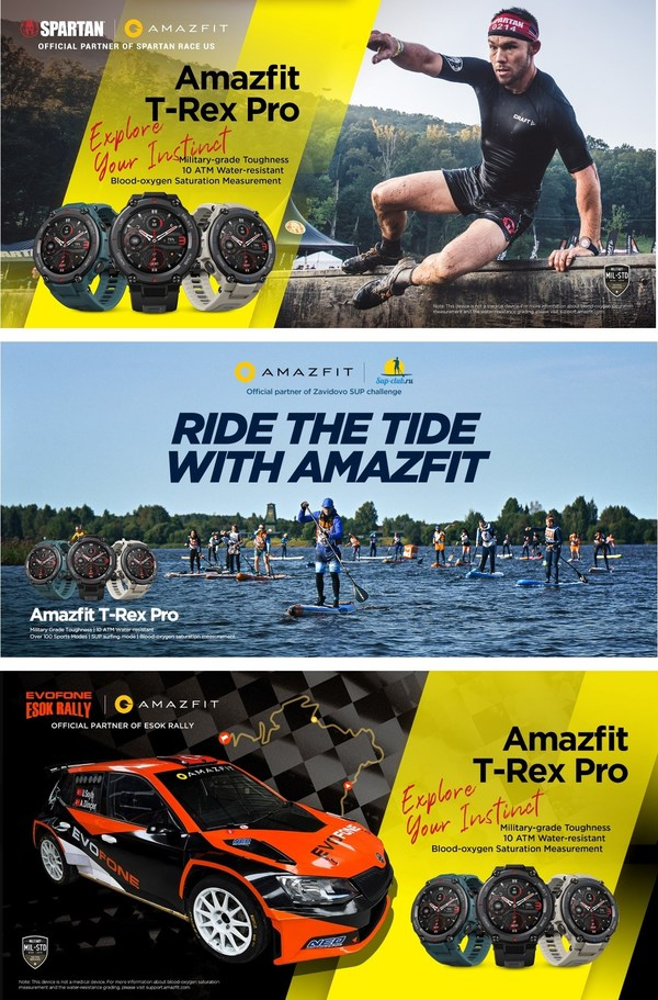 Amazfit Sets Challenge to Explore Your Instinct with Sponsorships of Exciting Outdoor Sports Around the World
