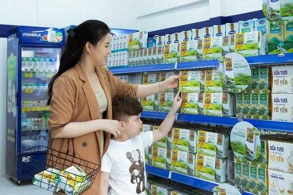 Vinamilk绿色农场新鲜牛奶是Vinamilk今年早些时候新推出的产品之一