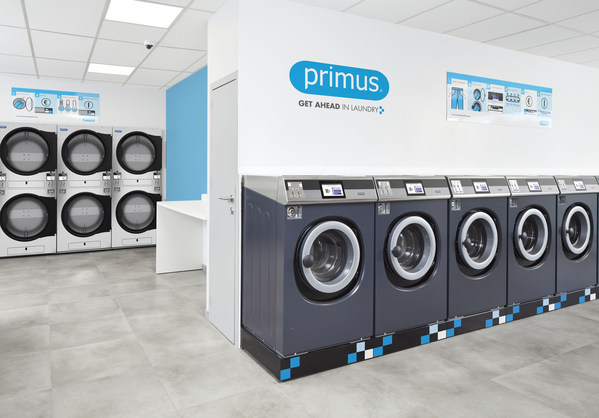 How should a laundromat look in 2021? Connected and fully remotely controlled with Primus XControl FLEX