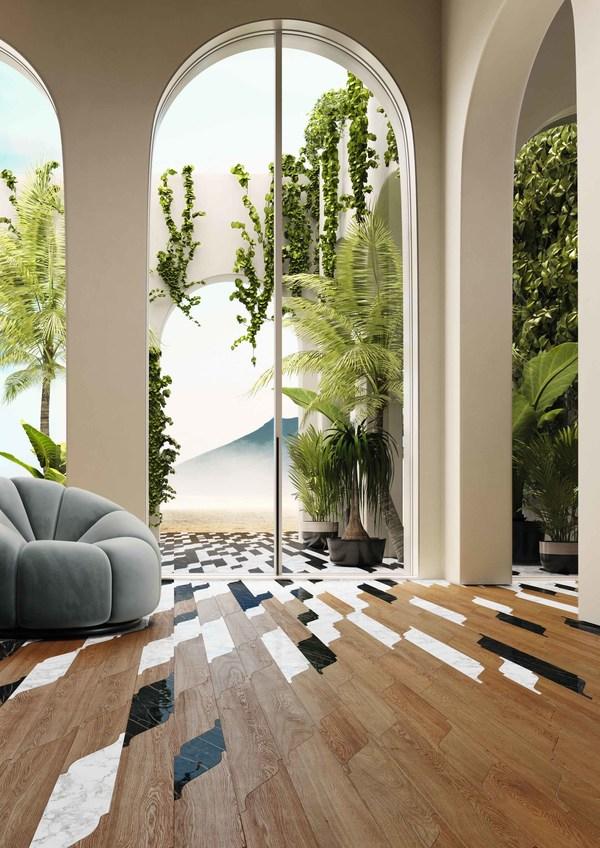 PininfarinaとCoraが技術、自然、健康を融合する新たな木製床のコレクション「Miraggio」を発表