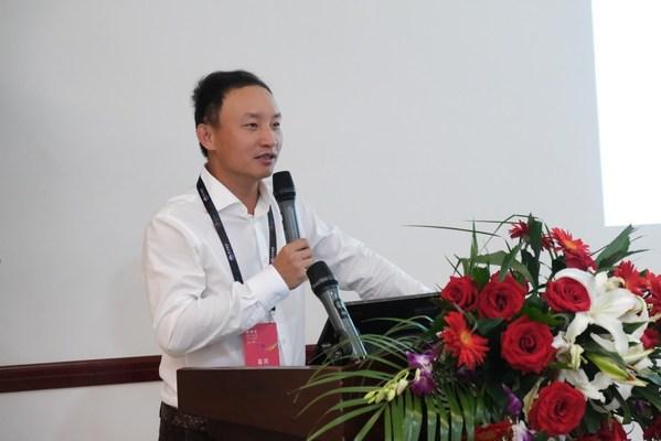 深圳市安防协会常务副会长杨鹏在数博会富士胶片磁带存储研讨会上致欢迎词