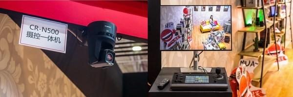 由摄控一体机CR-N500及摄控一体机控制器RC-IP100组成的4K摄控一体机系统