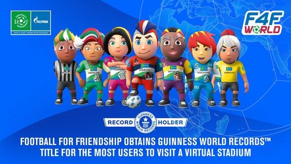 Football for Friendshipがバーチャルスタジアムに最多のビジターを集めてGUINNESS WORLD RECORDS(TM)新記録を達成