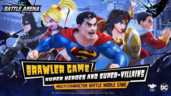 DC genuine authorized superhero fighting mobile game