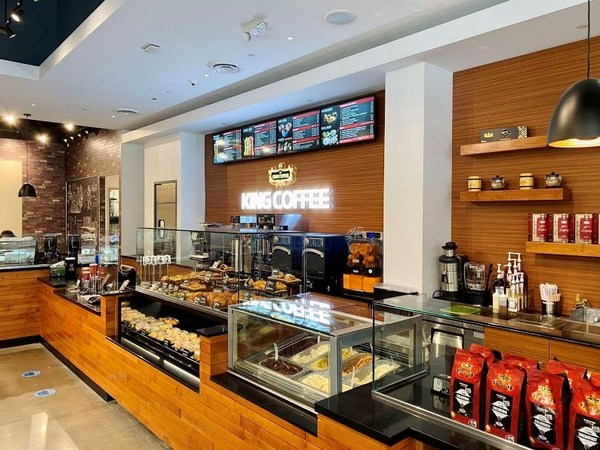 King Coffee Outlet in Anaheim California, USA