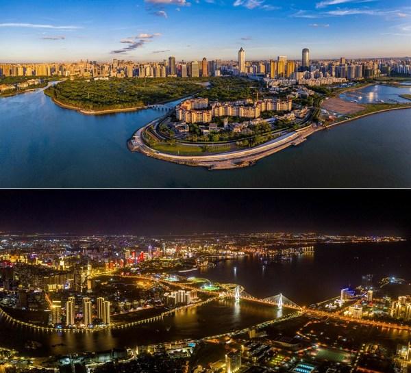 鸟瞰中国海南自贸港的省会城市海口。(海南国际传播中心刘洋 摄)