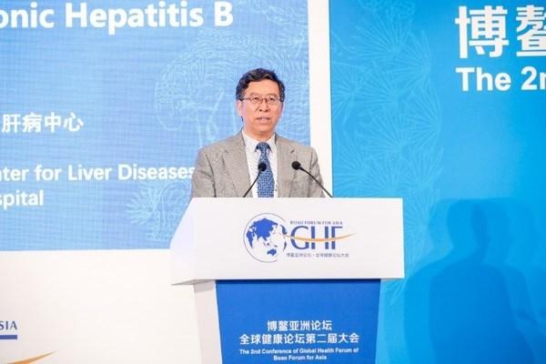中华医学会感染病学分会前任主委、北京大学第一医院王贵强教授发表演讲