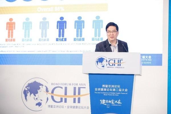 中华医学会肝病学分会主委、北京大学第一医院徐小元教授发表演讲