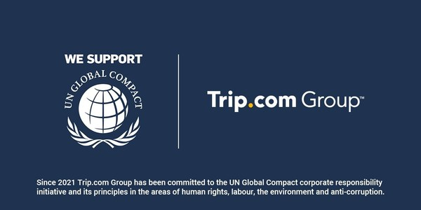 Trip.com Group has joined the UN Global Compact's corporate responsibility initiative, representing its ongoing commitment to and pursuit of sustainable and socially responsible goals.