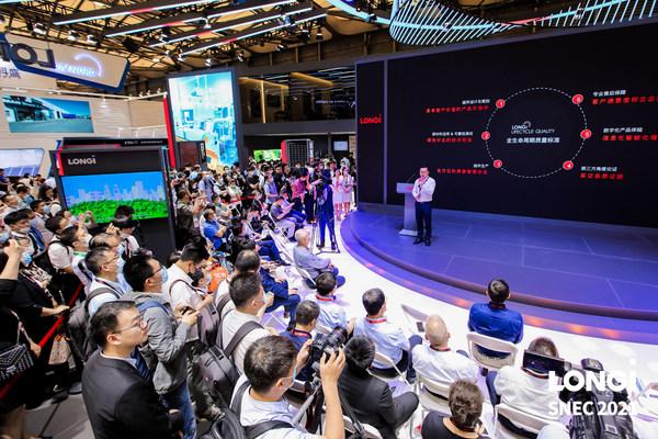 LONGi, SNEC 2021에서 업계 최초의 '라이프사이클 품질' 기준 공개