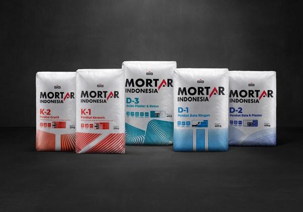 Mortar Indonesia memiliki 5 varian produk yaitu Mortar Indonesia Perekat Bata Ringan (D-1), Mortar Indonesia Perekat Bata & Plester (D-2), Mortar Indonesia Acian Plester & Beton (D-3), Mortar Indonesia Perekat Keramik (K-1) dan Mortar Indonesia Perekat Granit (K-2).