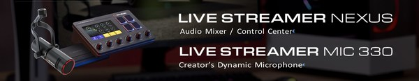 AVerMedia launches Live Streamer NEXUS and MIC 330, a content creator control center/6-track audio mixer and a dynamic XLR microphone