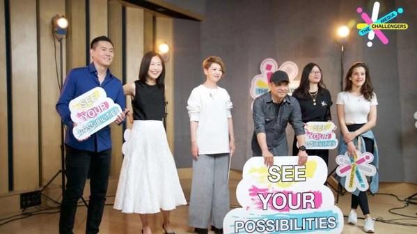 Para pembaca berita CGTN [Kiri-Kanan] Wang Guan, Kui Yingchun, Tian Wei, Ji Xiaojun, Zhou Heyang, Eva May. /CGTN)