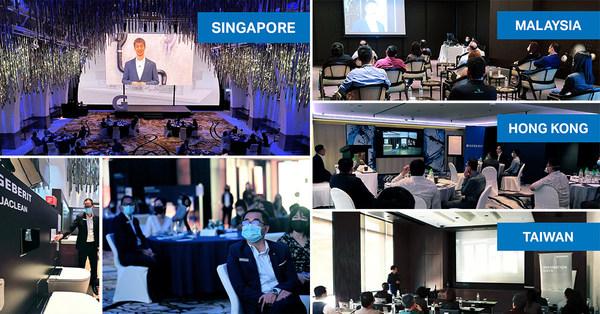 吉博力透過線下貿易展位進行了設計、功能和技術直播展示。除了虛擬活動外,還在新加坡、馬來西亞、香港和臺灣舉行了現場活動。