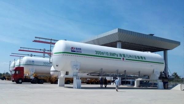 中集圣达因公司生产的液氢运输槽车行業领先,多次保障航天液氢储运任务