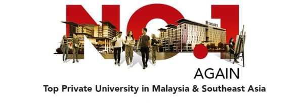 Taylor's University is number 1 again as the top private university in Malaysia & Southeast Asia