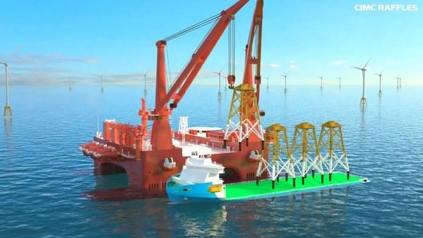 中集以大国重器的技术优势进军海上風電,既可以发展增量业务,还能提升存量平台的利用率