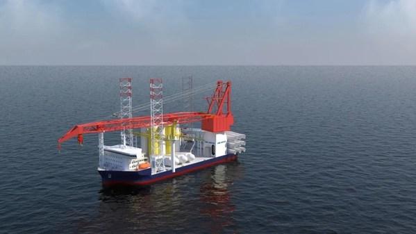 中集來福士正在建造的3060系列海上風電安装船