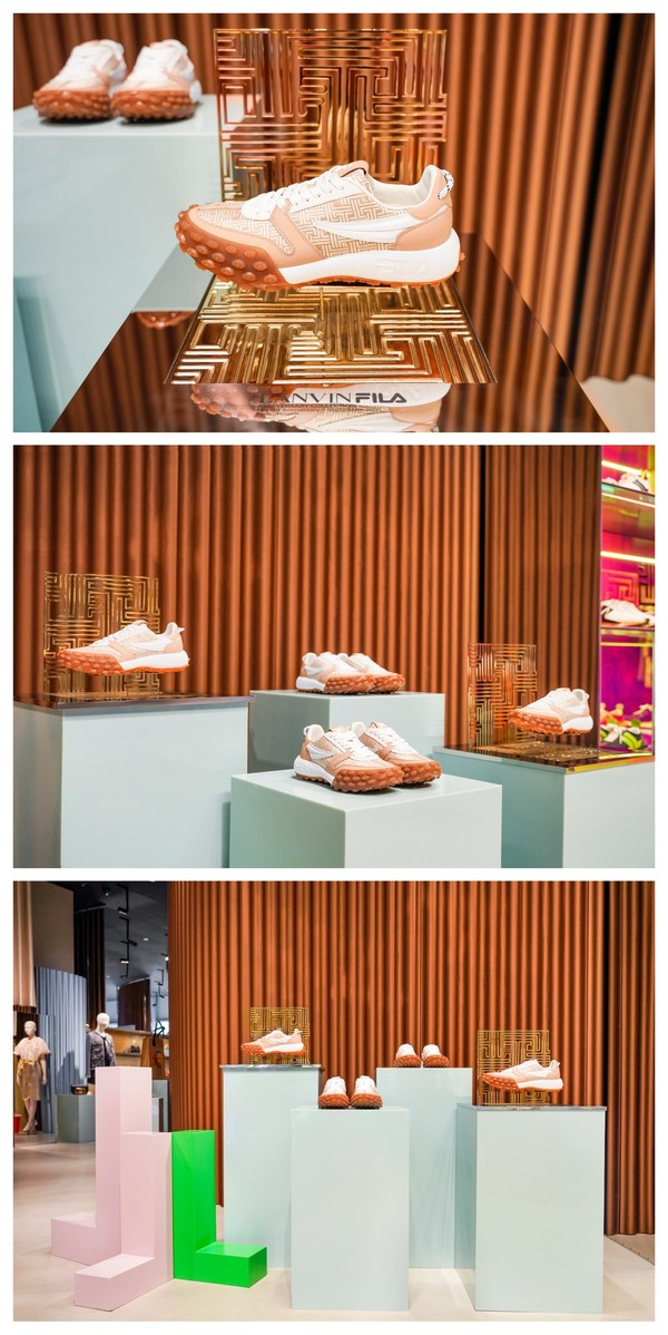 FILA x LANVIN联乘系列鞋款GARA专属陈展装置