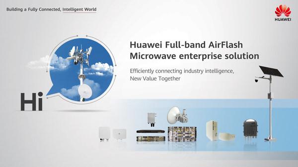 Solusi Huawei full-band AirFlash Microwave untuk segmen korporasi