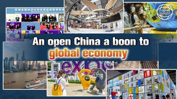 CGTN:開放中国はグローバル経済に恩恵