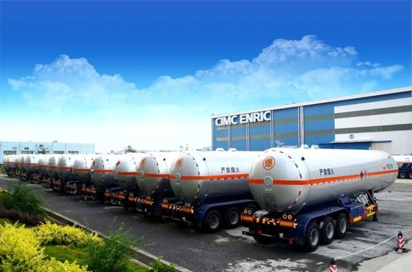 中集旗下企业生产的LPG(液化石油气)运输车