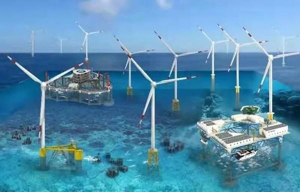 """中集来福士的海上风电规划,未来的海上""""清洁能源工厂"""""""