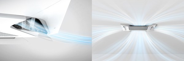 The diverse airflow patterns of LG Dual Vane™ Cassette