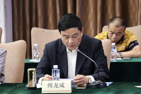 中国烹饪协会会长傅龙成进行主旨发言