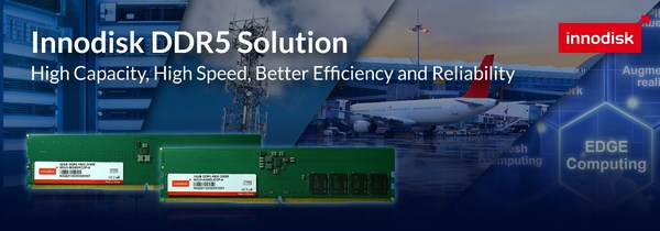 宜鼎国际释出工业级 DDR5 DRAM模块